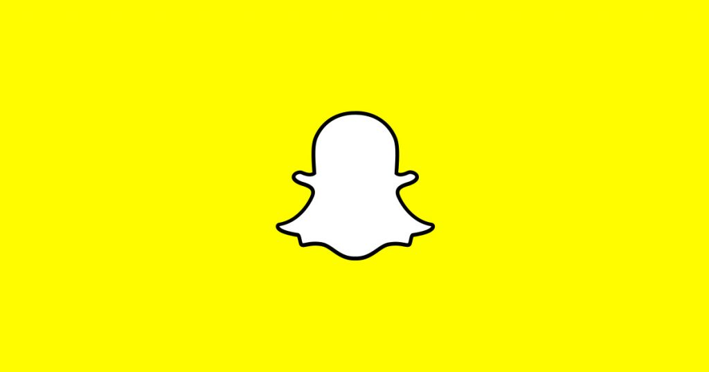 snapchat logo with yellow background